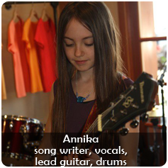 Annika Scilipote - song writer, vocals, lead guitar, drums